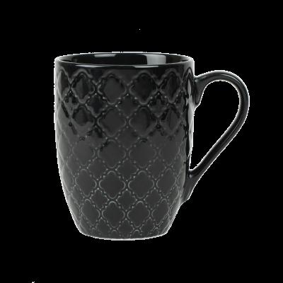Kubek porcelanowy LUBIANA Marrakesz czarny 350 ml
