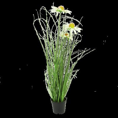 Sztuczna trawa w donicy rumianek 60 cm