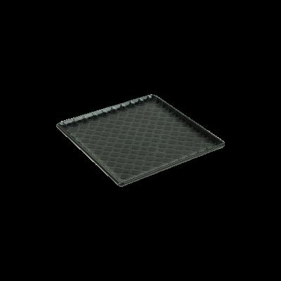 Talerz kwadratowy LUBIANA Marrakesz czarny 17x17 cm