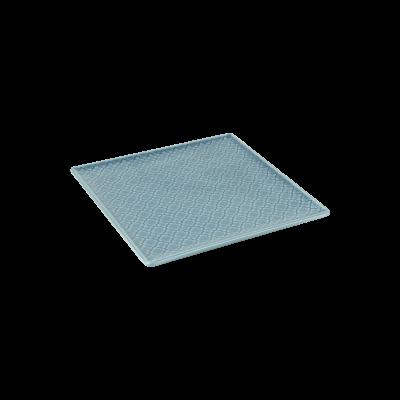 Talerz kwadratowy LUBIANA Marrakesz niebieski 20,5x20,5 cm