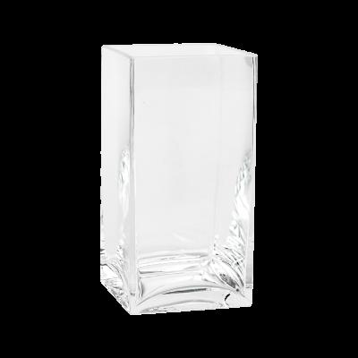 Wazon szklany prostokątny 11x11x21cm