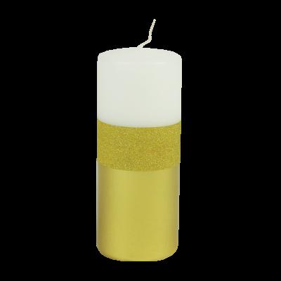 Świeca klubowa Brilliant Gold Biała 150/58