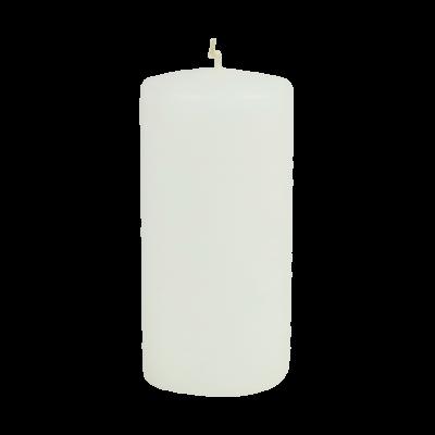 Świeca pieńkowa klasyczna matowa biała150/70