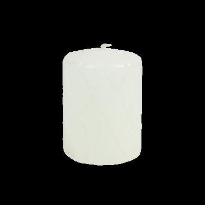 Świeca pieńkowa pikowana lakier biała 100/70