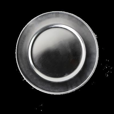 Podstawka dekoracyjna gładka jasne srebro 33 cm