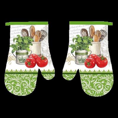 Komplet 2 rękawic kuchennych Olaf zielone 18x27 cm