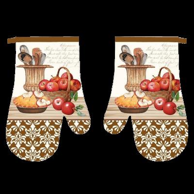 Komplet 2 rękawic kuchennych Olaf brązowe 18x27 cm