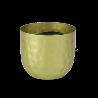 Świeca zapachowa w metalowej osłonce złota 8x9,5 cm
