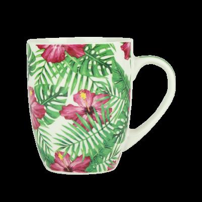 Kubek ceramiczny tropikalne liście 350 ml