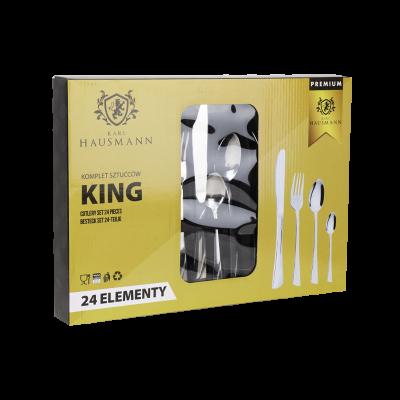Komplet sztućców w pudełku KING 24-elementowy