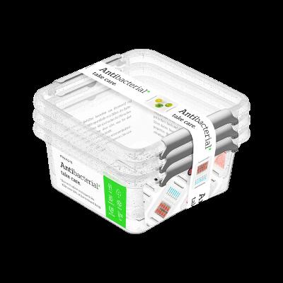 Komplet 3 pojemników na żywność ANTIBACTERIAL 0,85 L