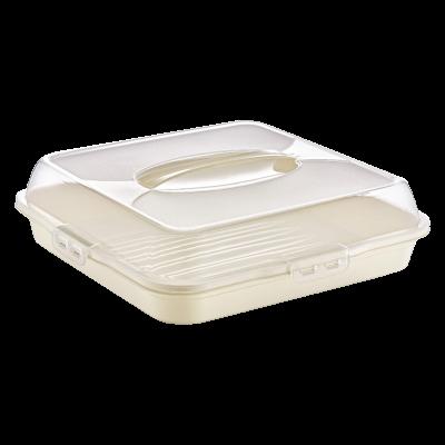 Pojemnik na ciasto kwadratowy 36x36x10 cm