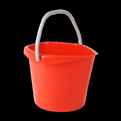 Wiadro plastikowe czerwone 5 l