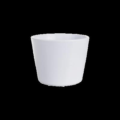 Osłonka ceramiczna prymula biała 12 cm