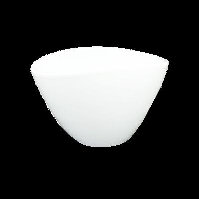 Osłonka ceramiczna owalna biała połysk 18x12 cm