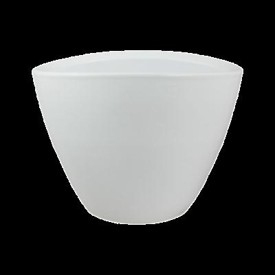 Osłonka ceramiczna owalna biała połysk 25x18 cm