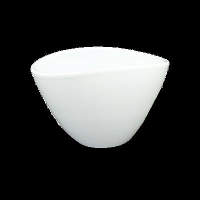 Osłonka ceramiczna owalna biała połysk 21,5x15 cm