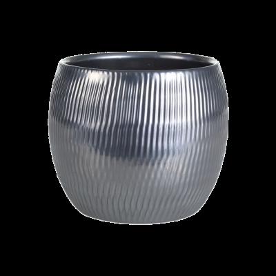 Osłonka ceramiczna baryłka srebrna 13 cm