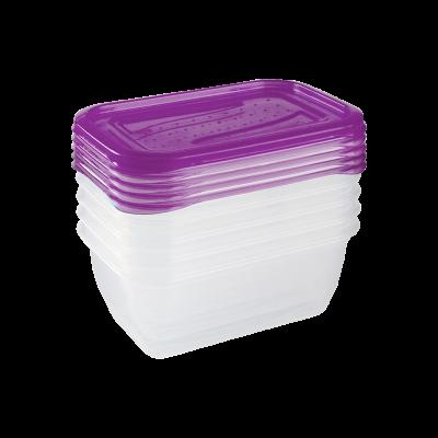 Komplet 5 plastikowych pojemnik na żywność 0,5l