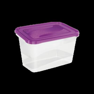 Komplet 2 plastikowych pojemnik na żywność fioletowe 2l