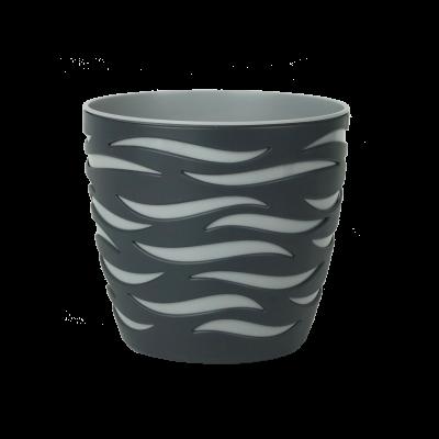 Doniczka Sahara Duo antracyt-platyna 18 cm