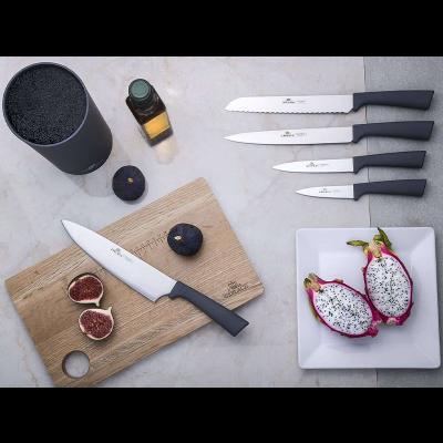 Zestaw noży w bloku GERLACH Smart Grey 6-elementowy