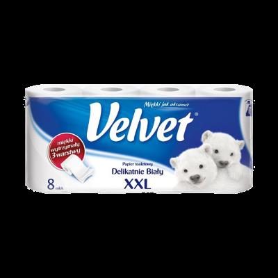 Papier toaletowy VELVET biały 8 rolek