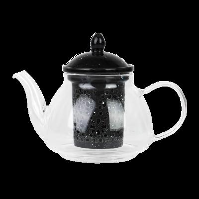 czajniczek szklany z ceramicznym wkładem 0,6L