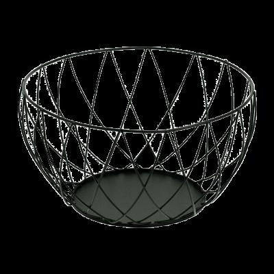 Koszyk na owoce diamond czarny 25x25x13,5cm