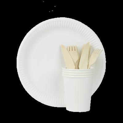Jednorazowy zestaw piknikowy AMIGO dla 4 osób