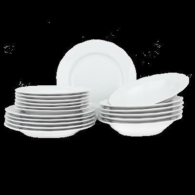 Komplet obiadowy IRENA biała 18-elementowy
