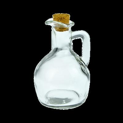 Butelka szklana na oliwę z korkiem 150 ml