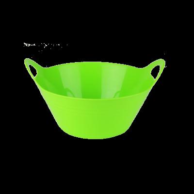Plastikowa miska z uchwytami zielona 2,5l