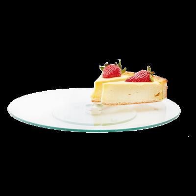 Szklana patera na ciasto Tamara obrotowa 30 cm