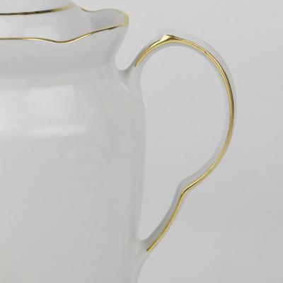 Imbryk porcelanowy IRENA złoty pasek 850 ml