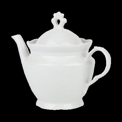Imbryk porcelanowy IRENA biała 800 ml