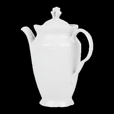 Imbryk porcelanowy IRENA biała 850 ml