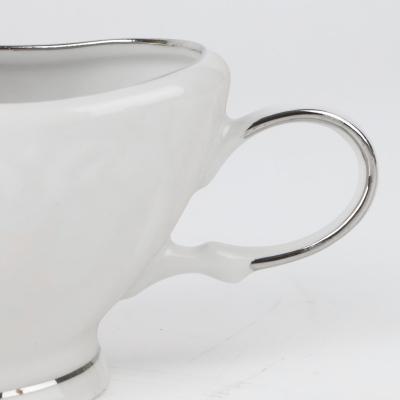 Sosjerka porcelanowa IRENA platynowy pasek 200 ml
