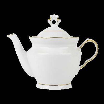 Imbryk porcelanowy IRENA złoty pasek 800 ml