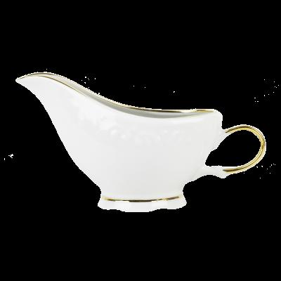 Sosjerka porcelanowa IRENA złoty pasek 200 ml