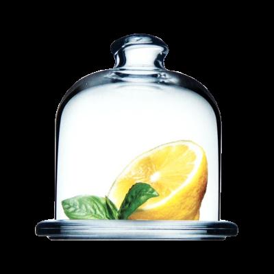 Szklany pojemnik na cytrynę PASABAHCE 10x10 cm