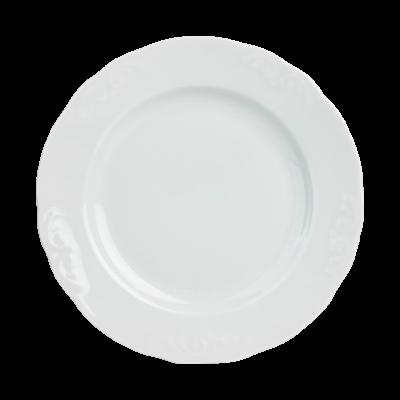 Talerz obiadowy IRENA biała 24 cm