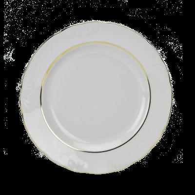 Talerz obiadowy IRENA złoty pasek 24 cm