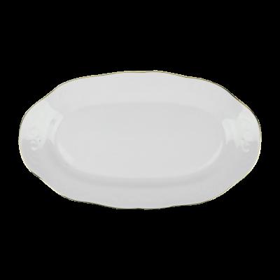 Półmisek porcelanowy IRENA złoty pasek 27 cm