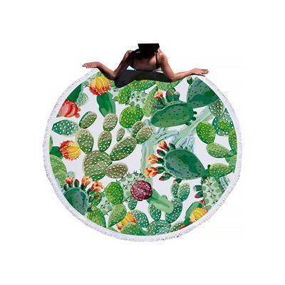 Ręcznik plażowy okrągły kaktusy 150 cm