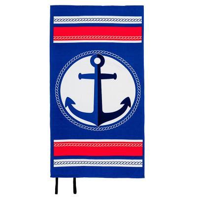 Ręcznik plażowy z gumką kotwica 90x170 cm