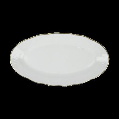 Rawierka porcelanowa IRENA złoty pasek 25 cm