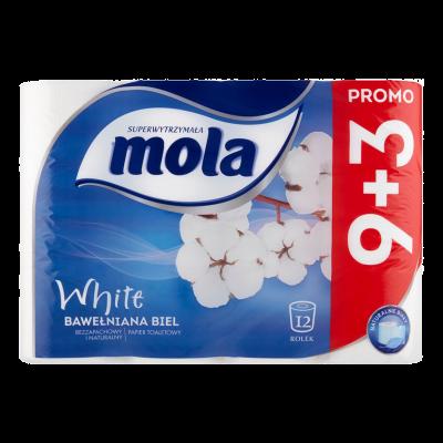 Papier toaletowy Mola biały(9+3 rolki)