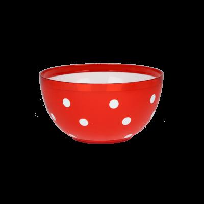 Salaterka plastikowa Marusya czerwona 2l