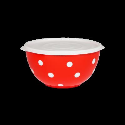 Salaterka plastikowa Marusya z pokrywką czerwona 2l